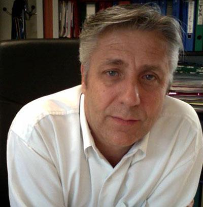 Laurent Brunet, directeur de l'hebdomadaire 7 à Poitiers