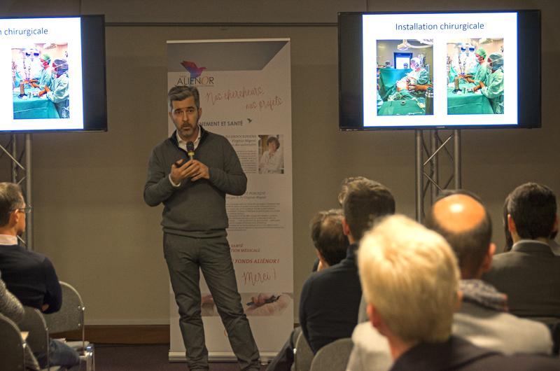 Le Pr Christophe Jayle, chirurgien cardio-thoracique, a présenté les avantages du robot Da Vinci.