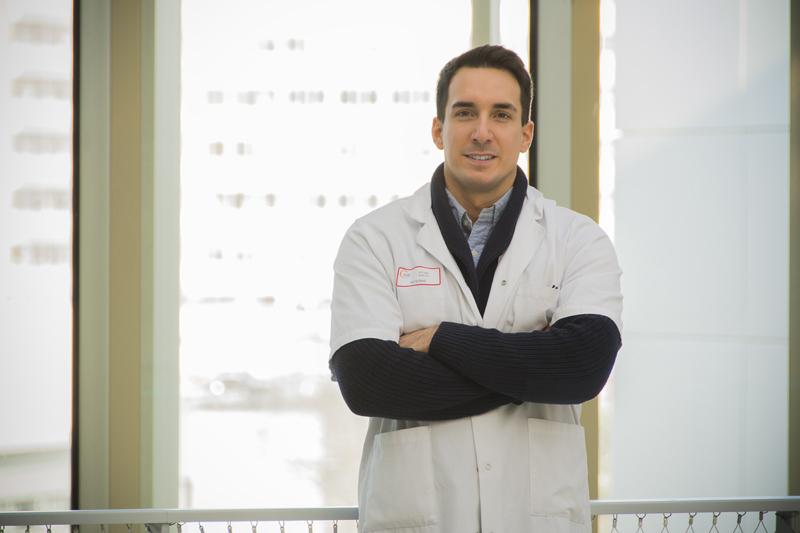 Sylvain Portet, chercheur et interne de neurochirurgie au CHU de Poitiers