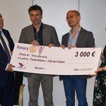 Remise de chèque du Rotary club de Poitiers