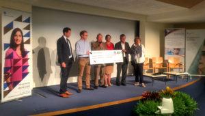 AG2R La Mondiale a remis un chèque d'un montant de 73 450 euros au fonds Aliénor.