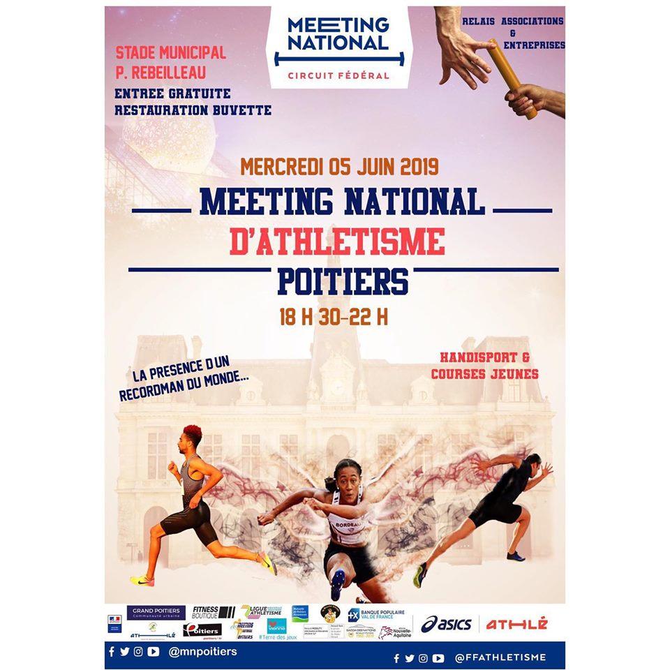 meeting national d'athlétisme de Poitiers